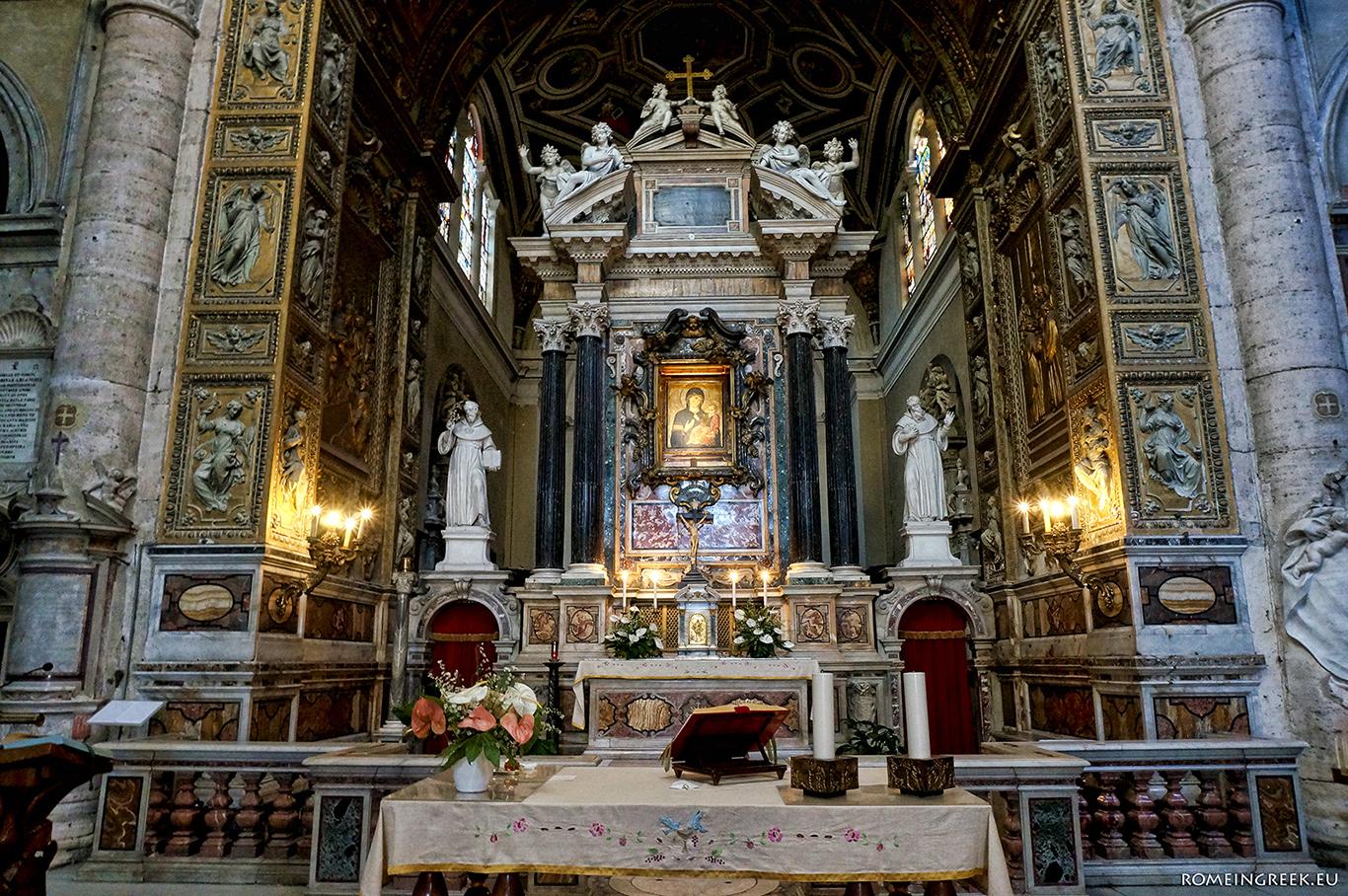 Το ιερό του Μπραμάντε και η εικόνα της Παναγίας
