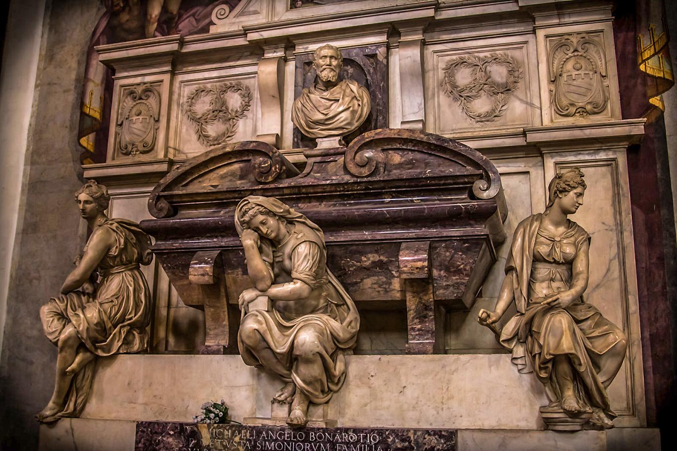 Ο τάφος του Μιχαήλ Άγγελου  στην Φλωρεντία