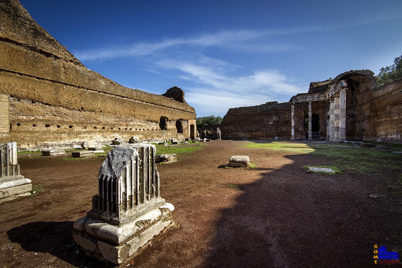 Έπαυλη του Αδριανού, κτίριο των δωρικών πεσσών