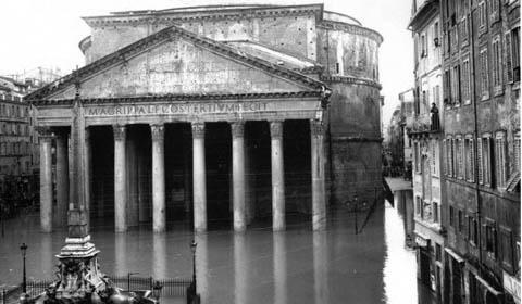 Η περιοχή του Πάνθεον πλημμυρισμένη (1870)