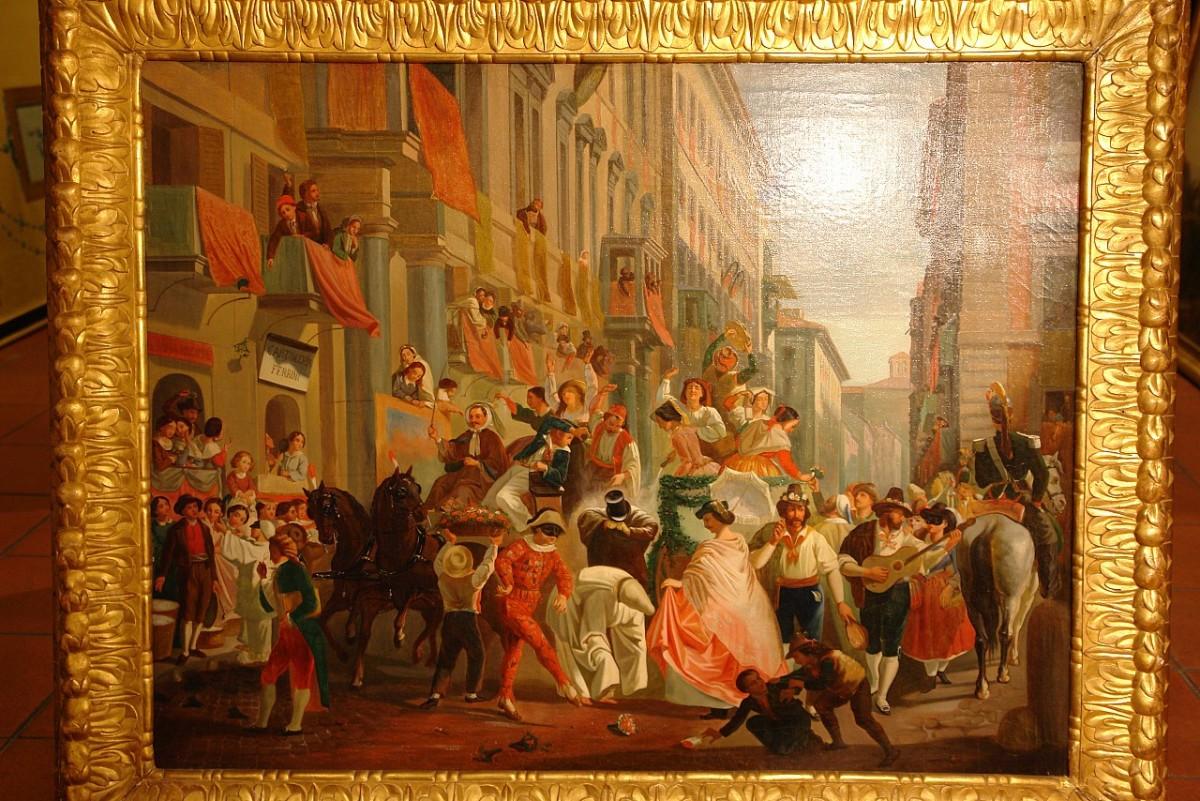 Καρναβάλι στην via del Corso (19ος αι.)