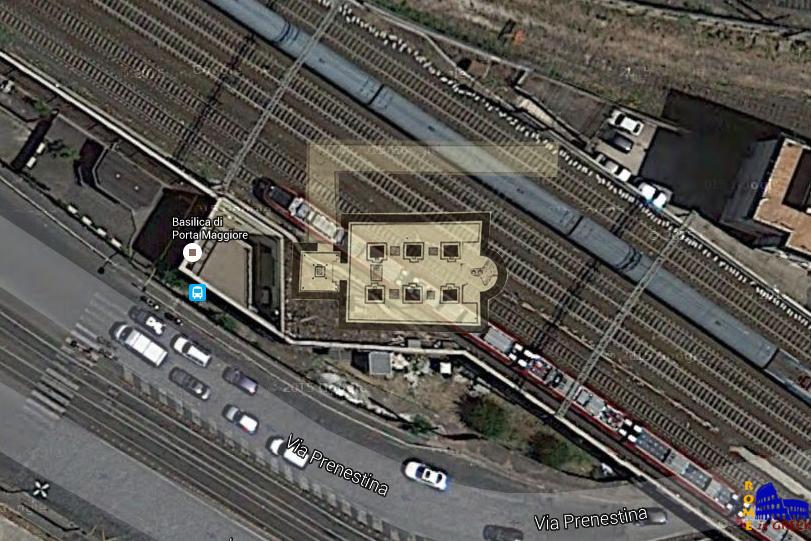Σχεδιάγραμμα της υπόγειας βασιλικής