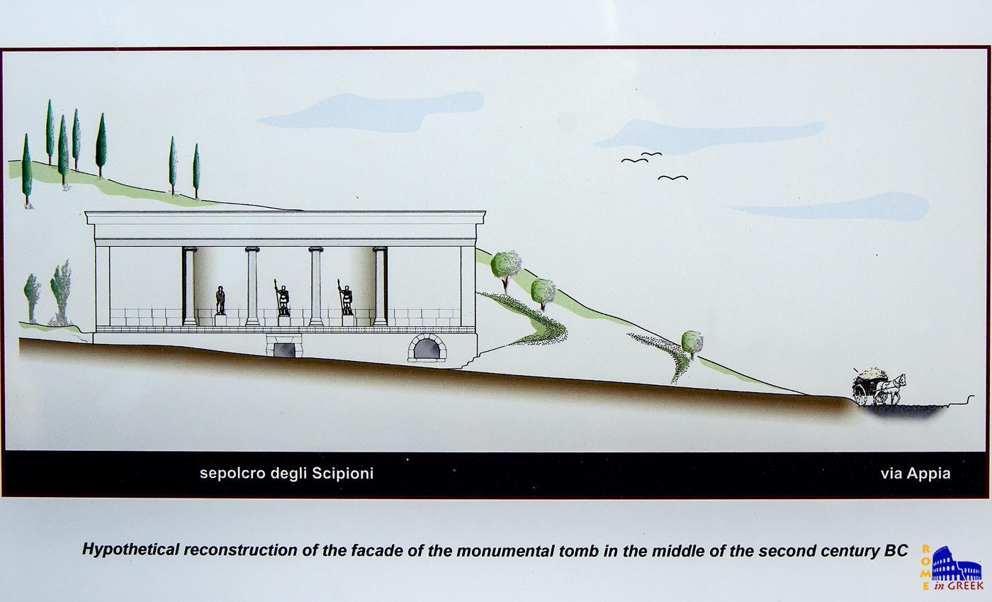 Εικονική απεικόνιση του τάφου