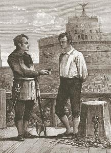 Εκτέλεση στην Ρώμη στις αρχές του 19ου αιώνα, μπροστά από το Castel Sant'Angelo.