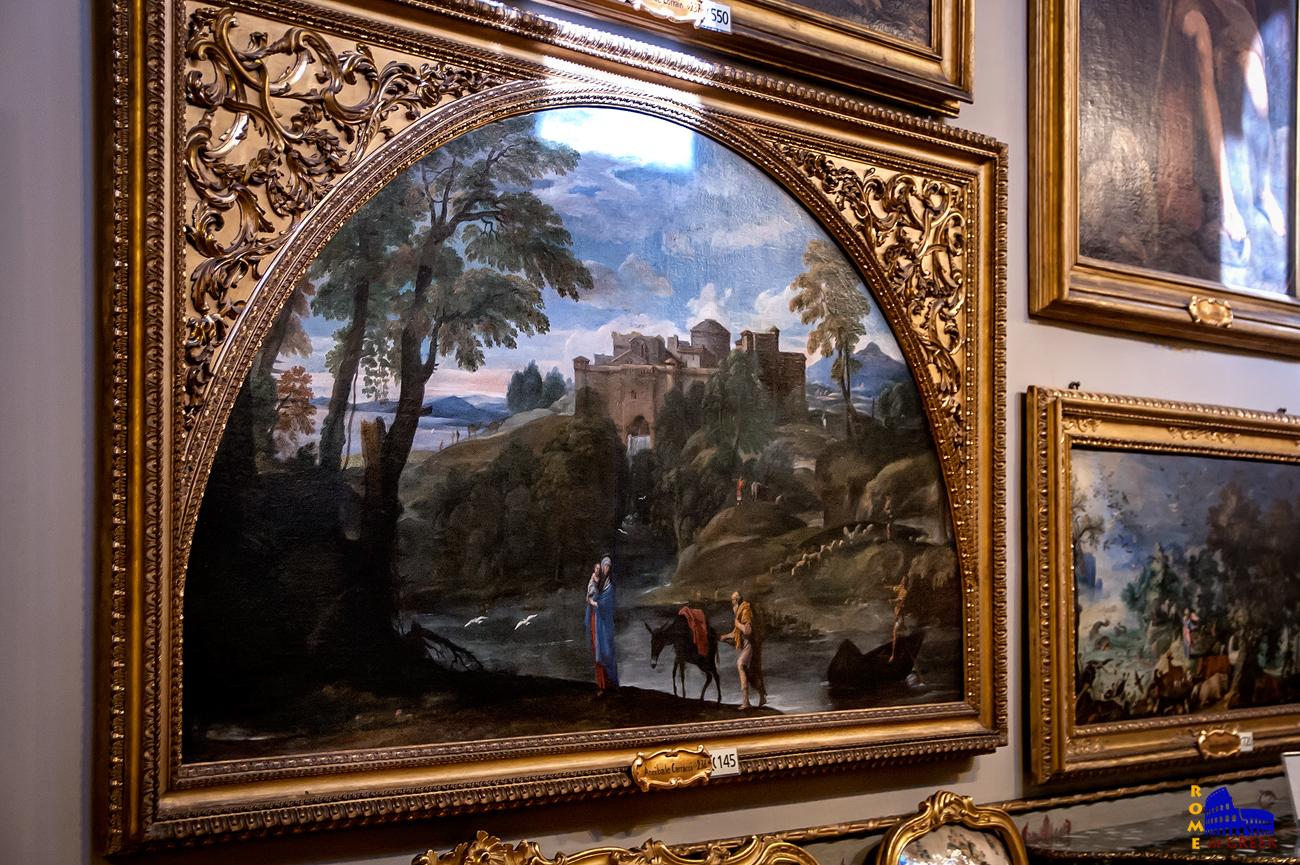 Annibale Carracci: «Τοπίο με την Φυγή στην Αίγυπτο» (1613)