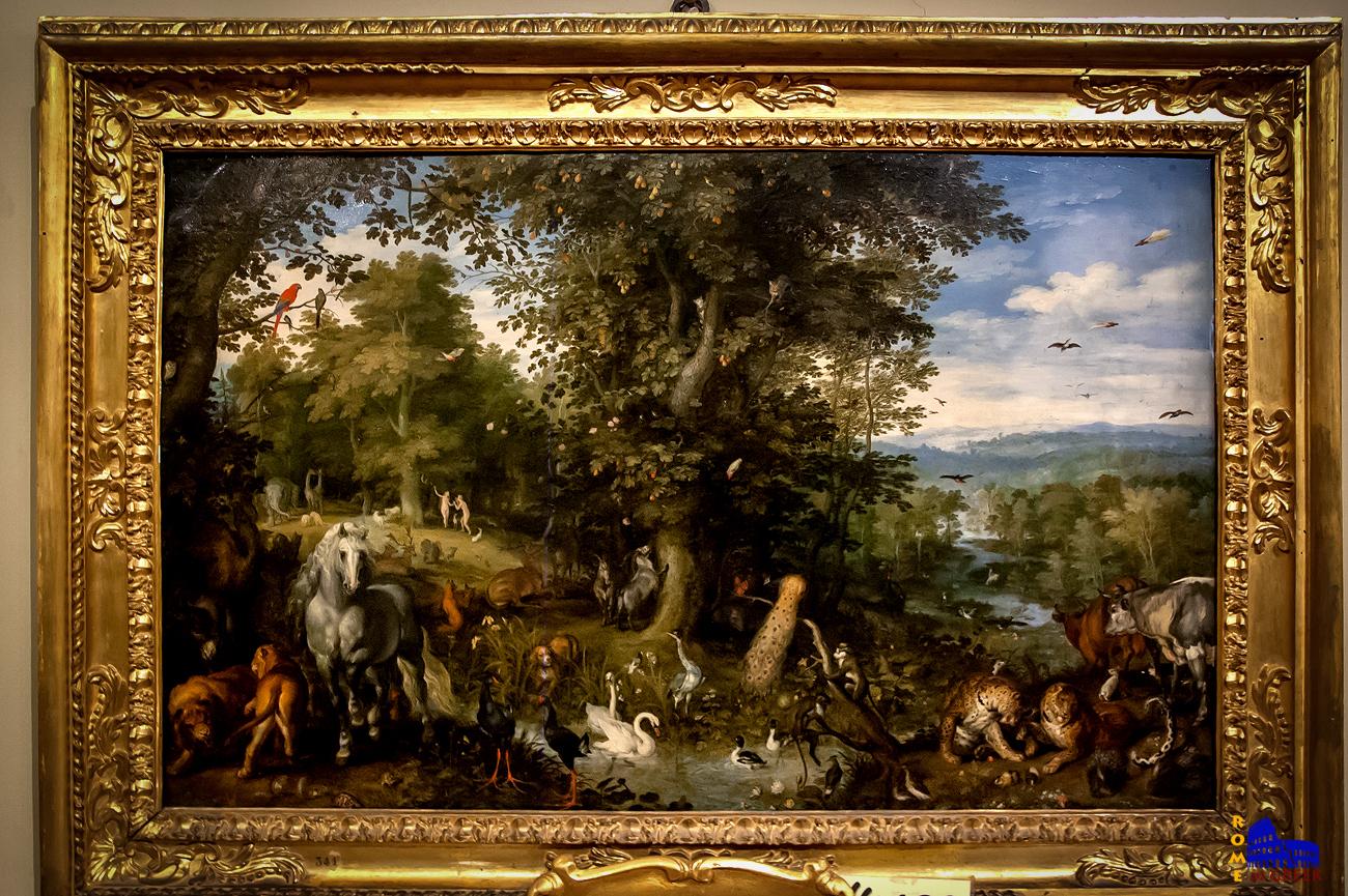 Jan Brueghel o πρεσβύτερος: «Παράδεισος και Προπατορικό αμάρτημα» (1612)