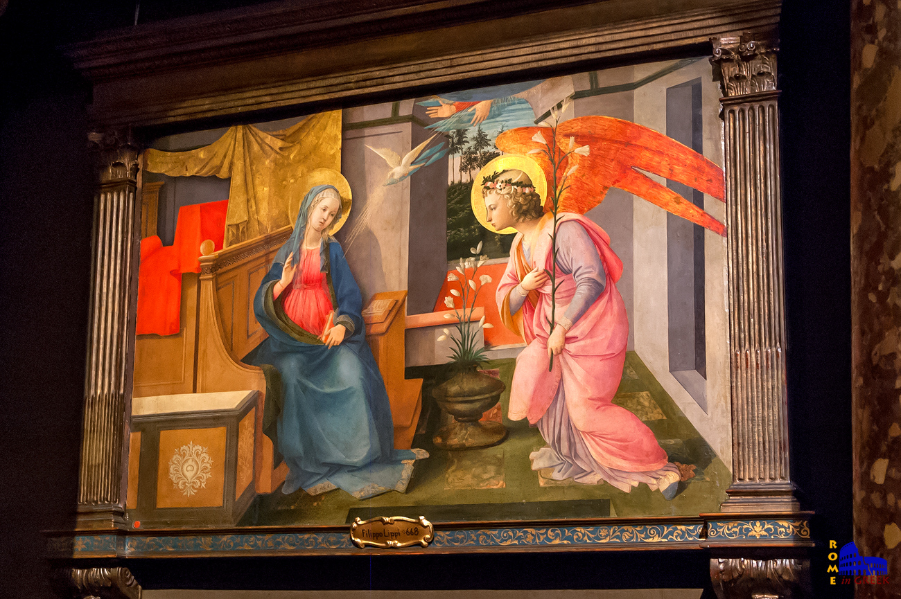Filippo LIppi: «Ευαγγελισμός της Θεοτόκου» (1445)