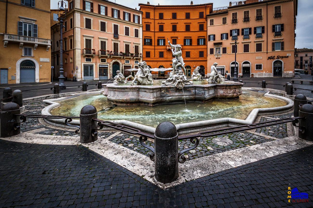 Η «κρήνη του Ποσειδώνα» στην piazza Navona (Giacomo Della Porta, 1574)