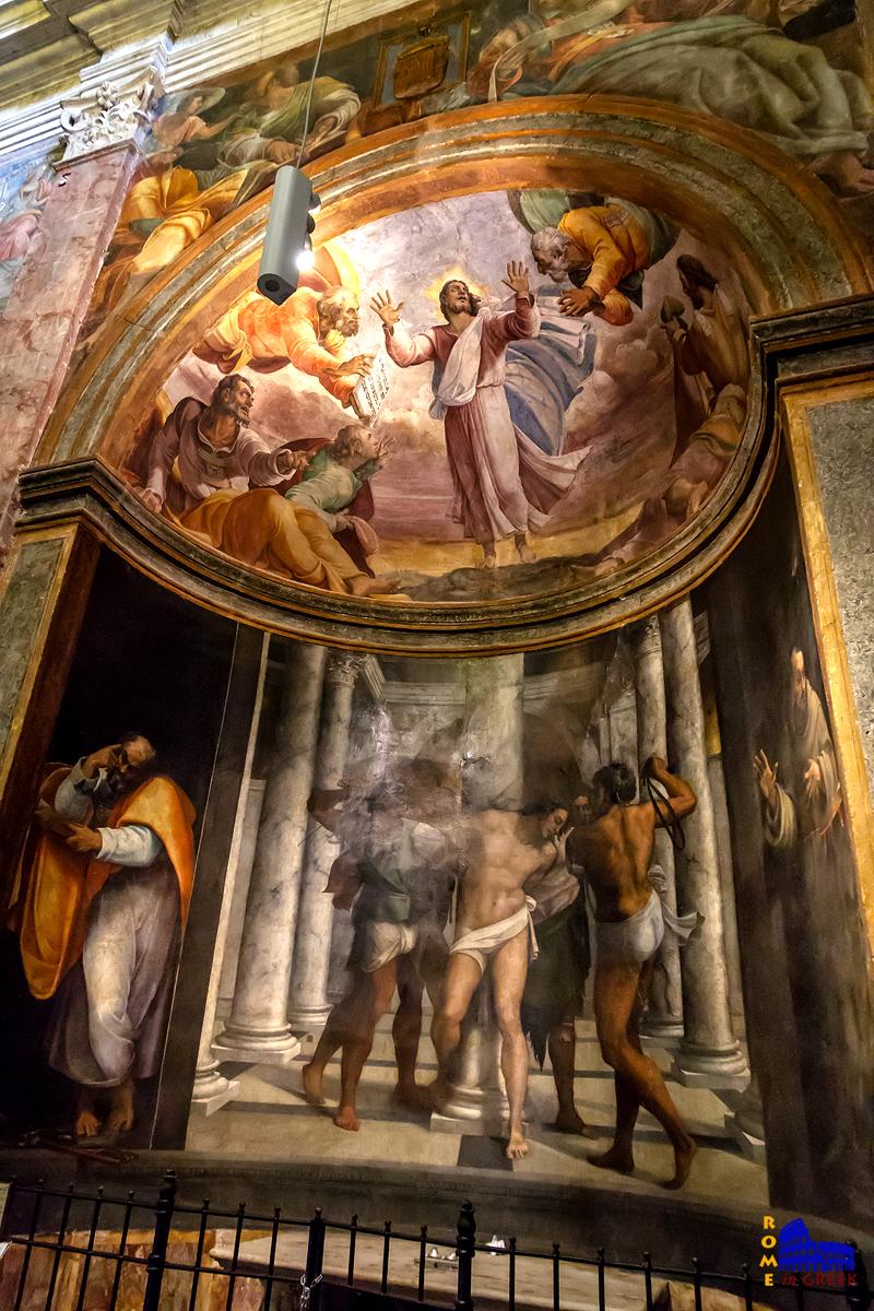 Sebastiano del Piombo, «Μαστίγωση του Χριστού με τους Αγίους Φραγκίσκο και Πέτρο»