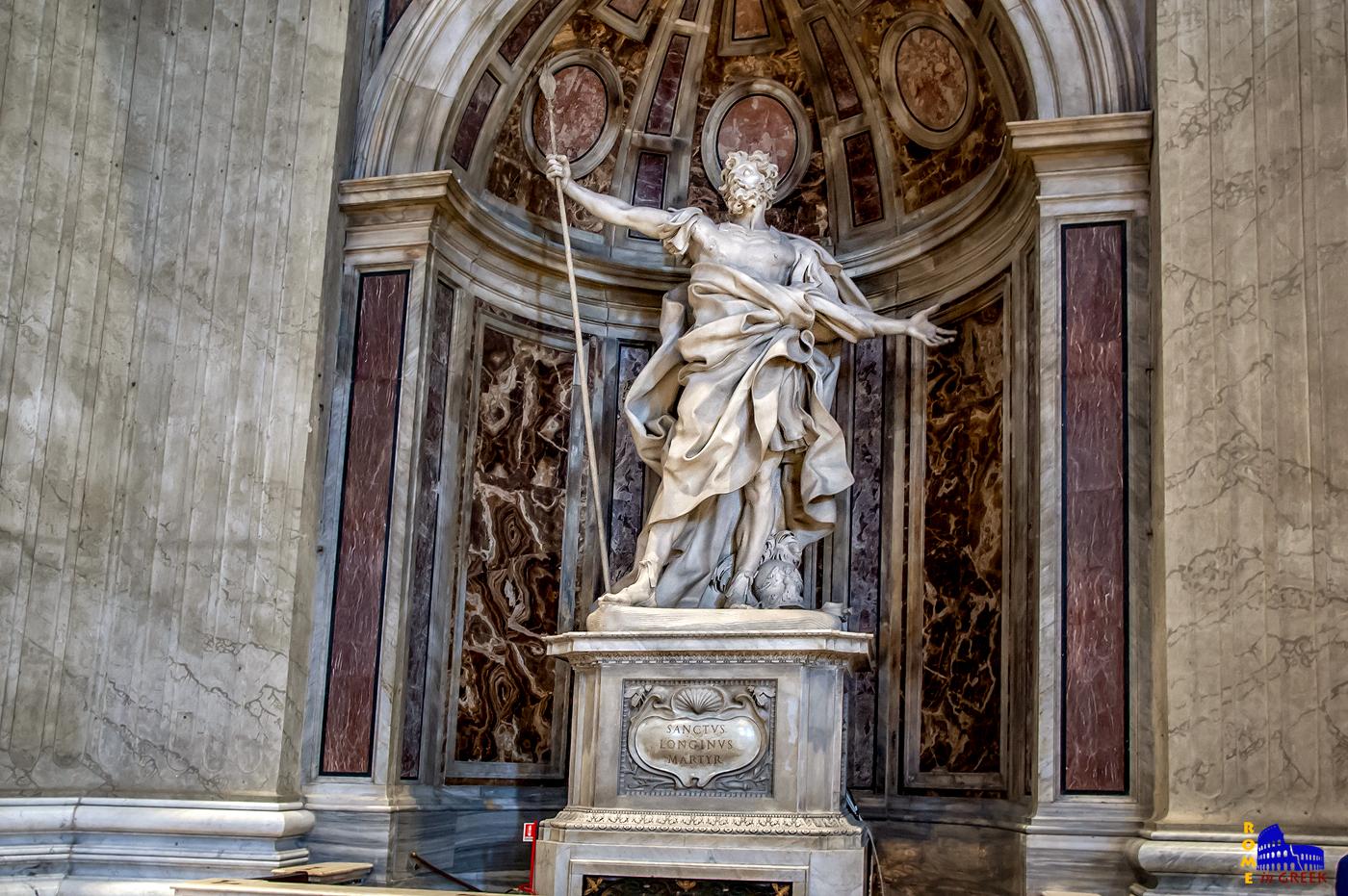 Ο Άγιος Λογγίνος με τη Λόγχη. Έργο του Gian Lorenzo Bernini (1638)