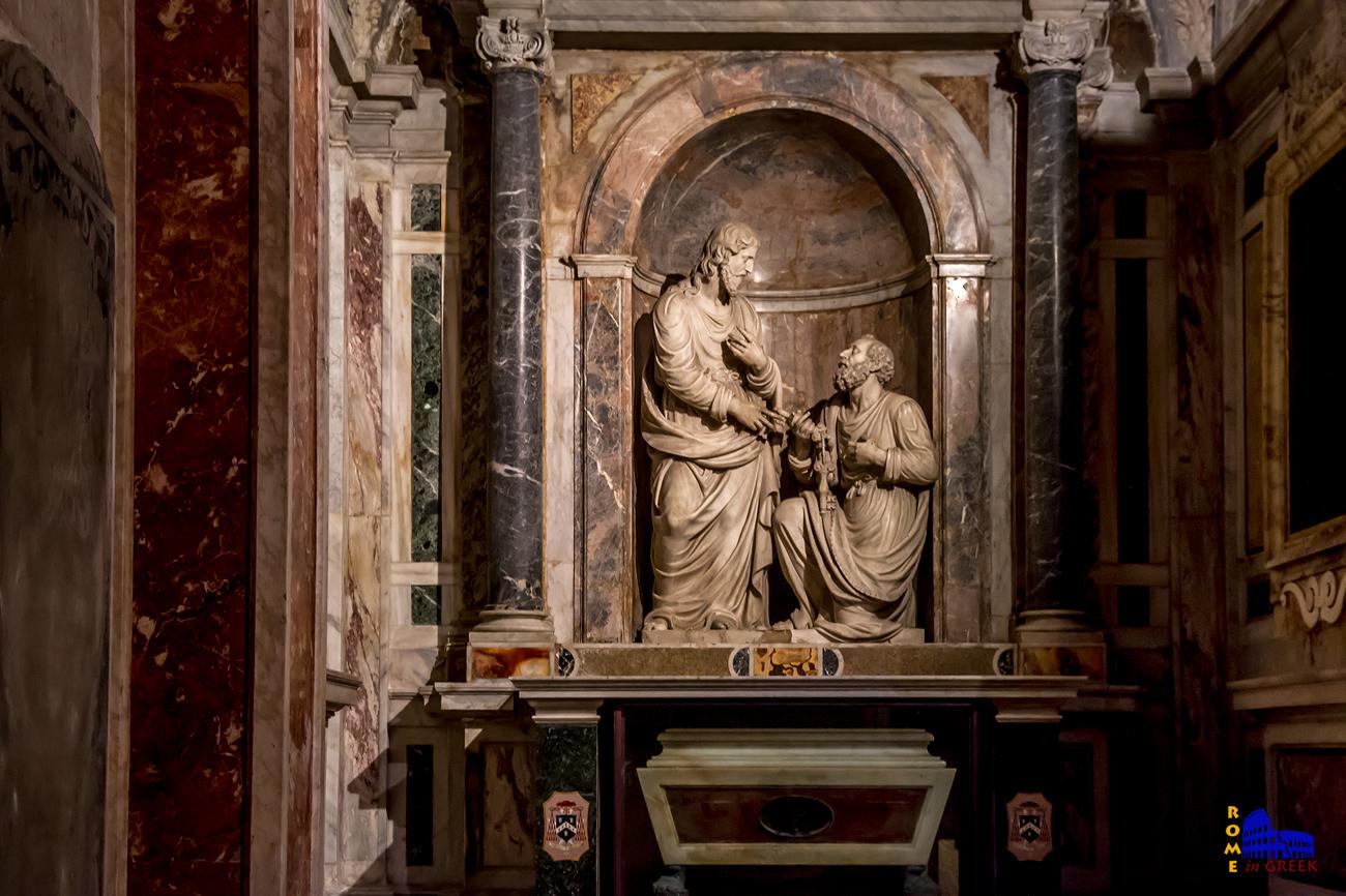 Το παρεκκλήσι αφιερωμένο στον Απ. Πέτρο με τον Χριστό να παραδίδει τα κλειδιά του Παραδείσου (16ος αι.)