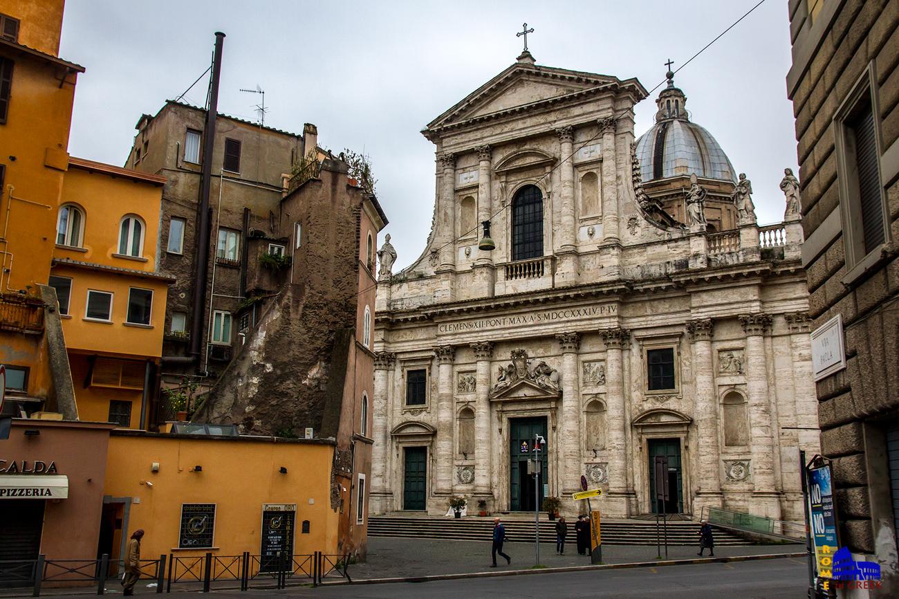 San Giovanni dei Fiorentini, πρόσοψη